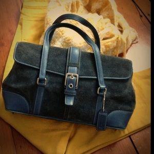 COACH Blue suede mini bag